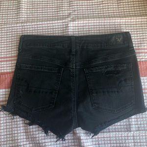 AEO Hi Rise Shortie Shorts